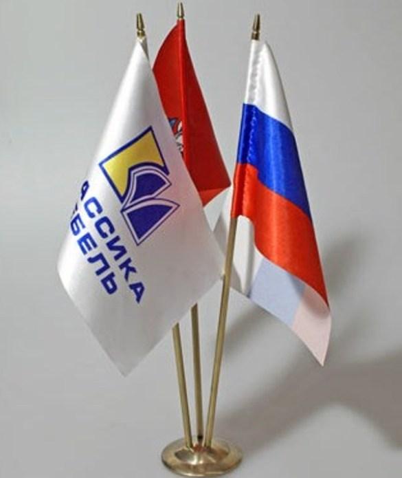 Срочная доставка по РФ флажочков с логотипом