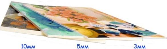 Печать на ПВХ различной толщины