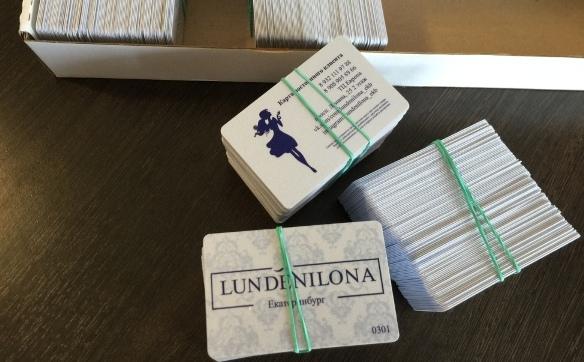 Бонусные карты и карты постоянного клиента на заказ