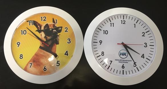 Часы с логотипом настенные на заказ