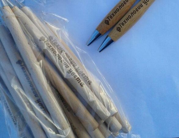 Фирменные ручки с логотипом