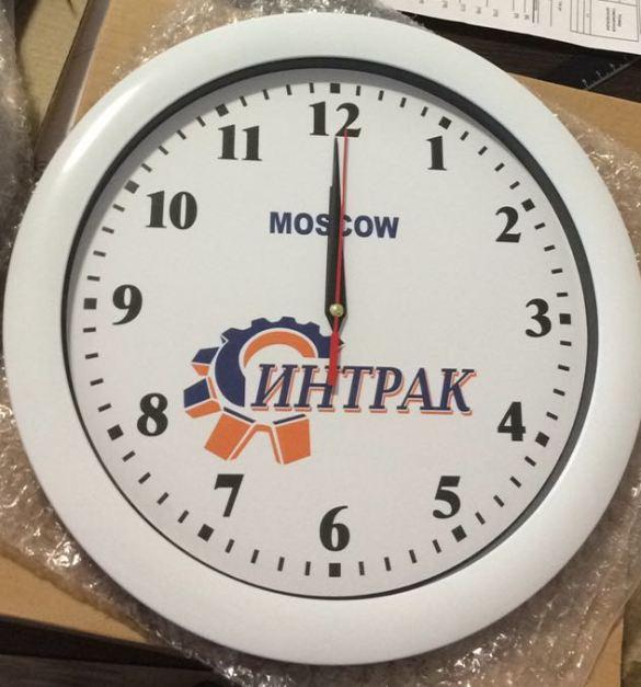 Настенные часы с логотипом изготовить