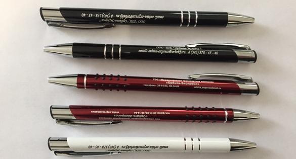 Преимущества печати на шариковых ручках и нанесения логотипа