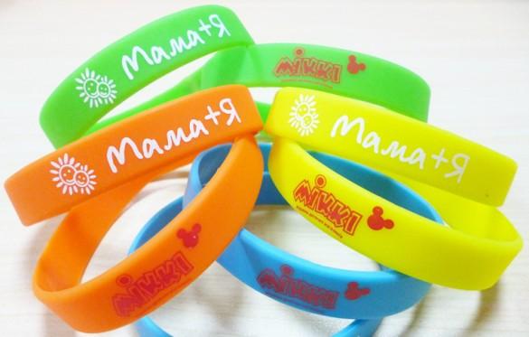 Силиконовые браслеты с логотипом заказать