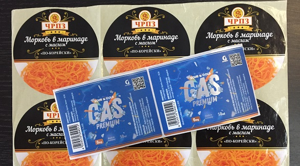 Этикетки на упаковку - печать и изготовление с доставкой по РФ